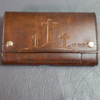 Tooled Leather Smartphone Holster