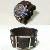 Leather Watch Cuff (with curved buckle) Citizen Eco-Drive