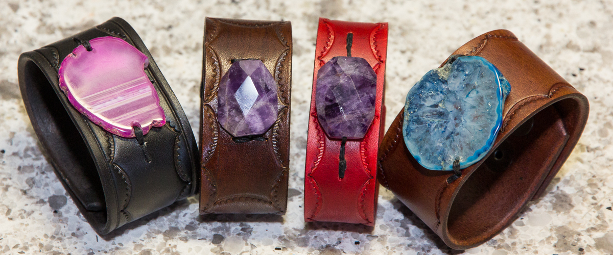 Amethyst Crystal Leather