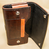 Smartphone Holster Belt-Clip Case -Front Under Flap Business Card Slot