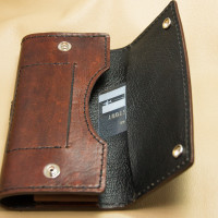 Smartphone Holster Belt-Clip Case -Inside Flap Pocket