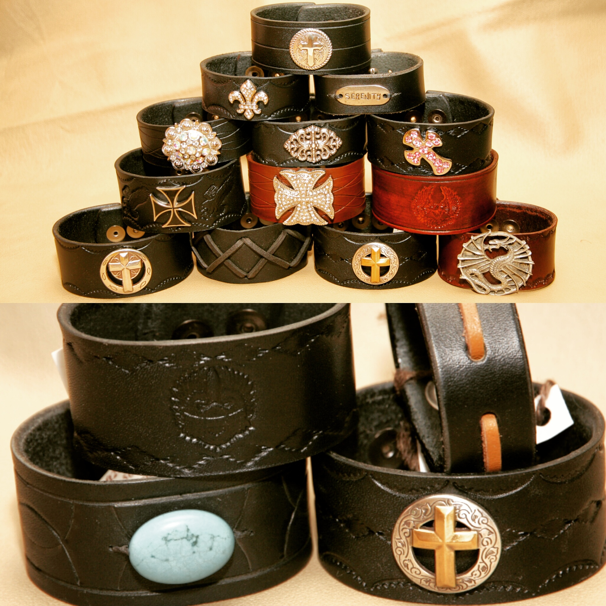 Custom Leather Cuff Bracelets