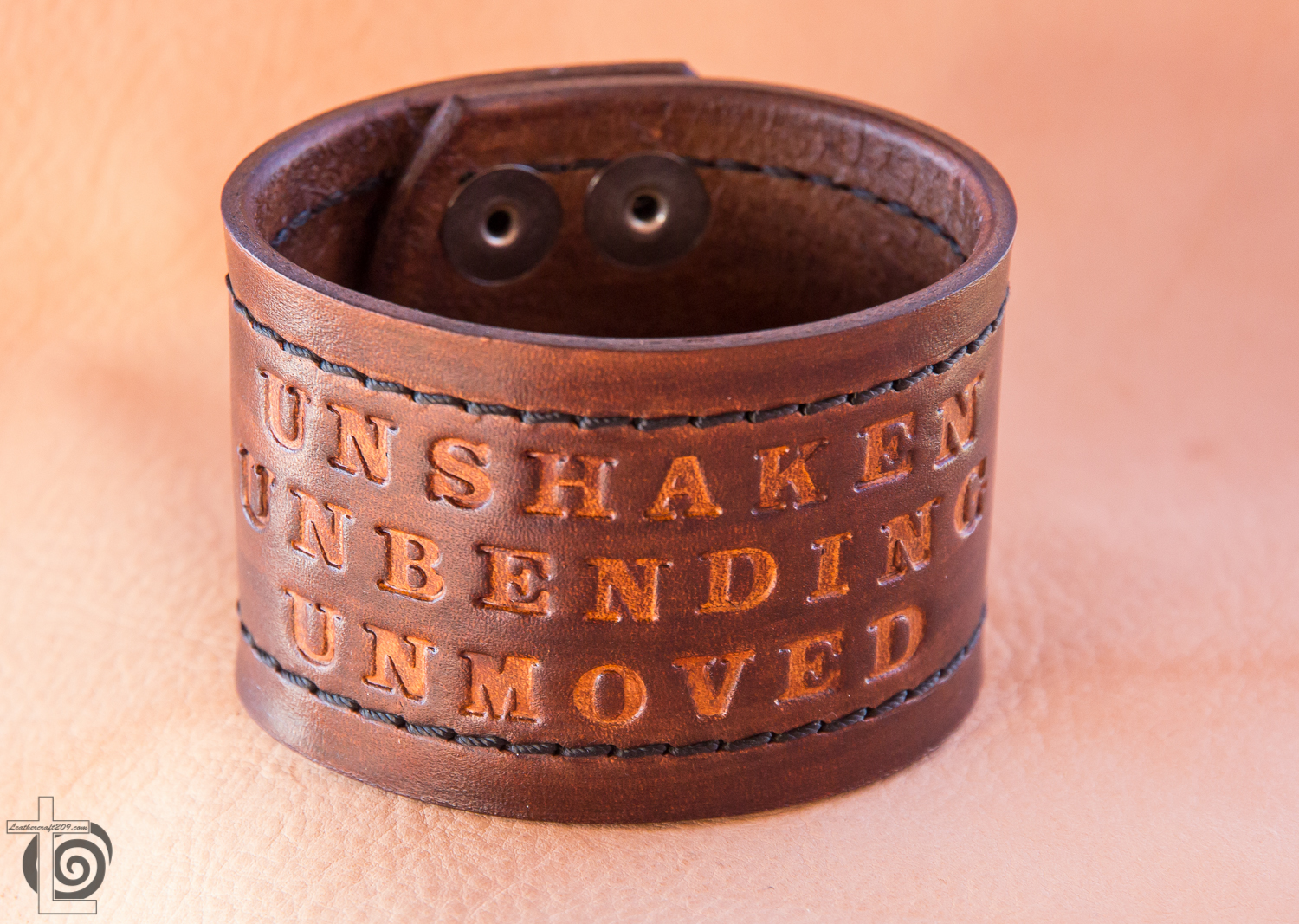 Leather Cuff with Affirmation quotes