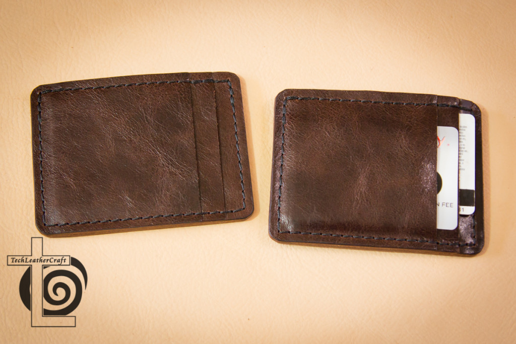 Two Slim Wallets Front Card Slot View