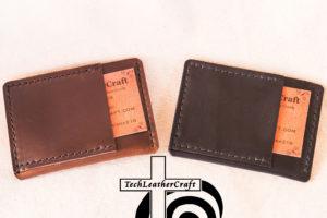 Ultra Slim Wallet Black and Brown-Burgundy