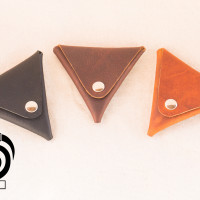 Triangle Leather Coin Pouches