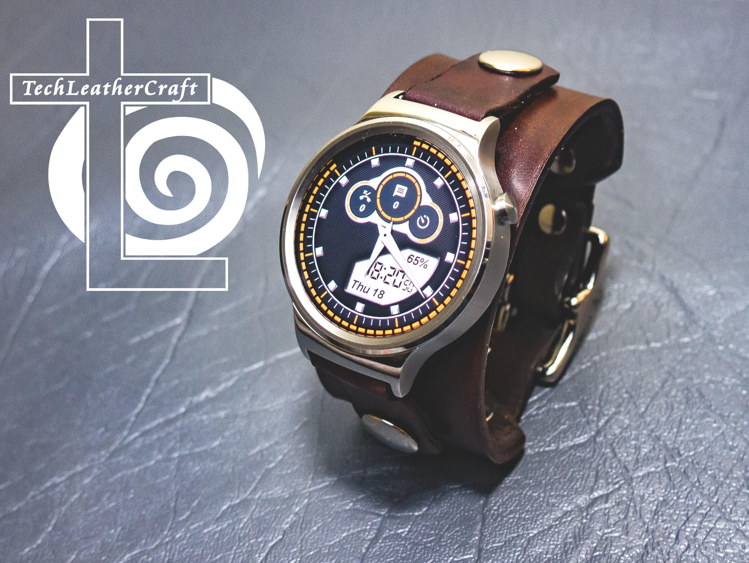 Leather Huawei Smartwatch Cuff Techleathercraft