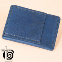 Blue Horween with Black Stitching Ultra Slim Wallet​ Leather