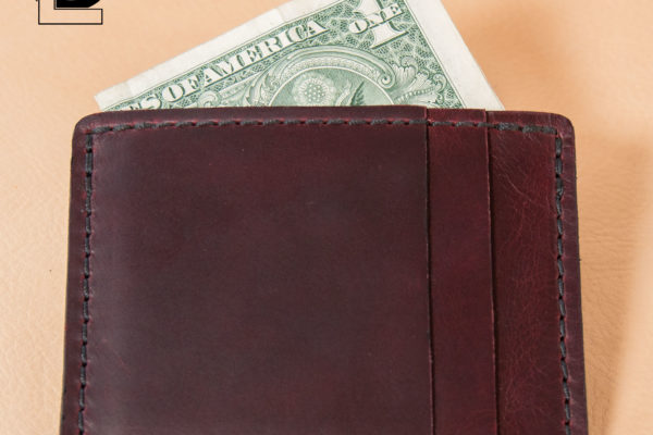 Burgundy Horween Chromexcel Slim Wallet
