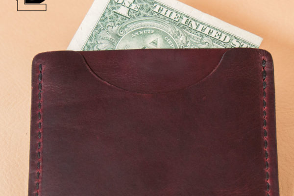Burgundy Horween Slim Wallet