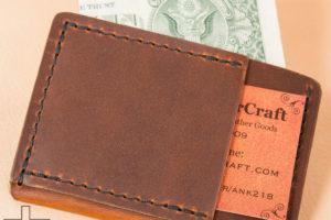 Rustic Sunset Oil Tan Slim Wallet