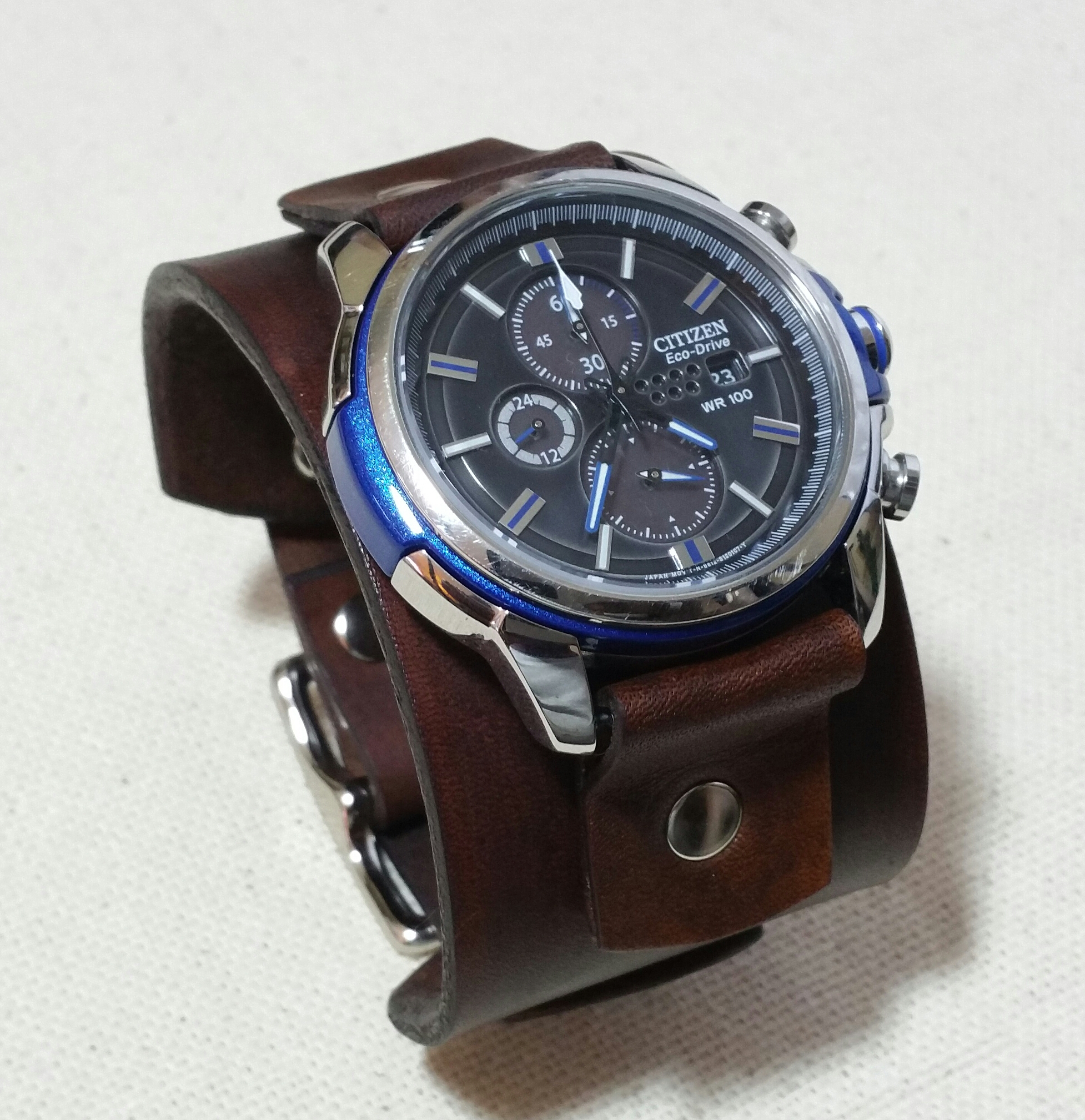 brown black manooco from edited products zephyr watches strap leather zephyrblackbrownleather watch
