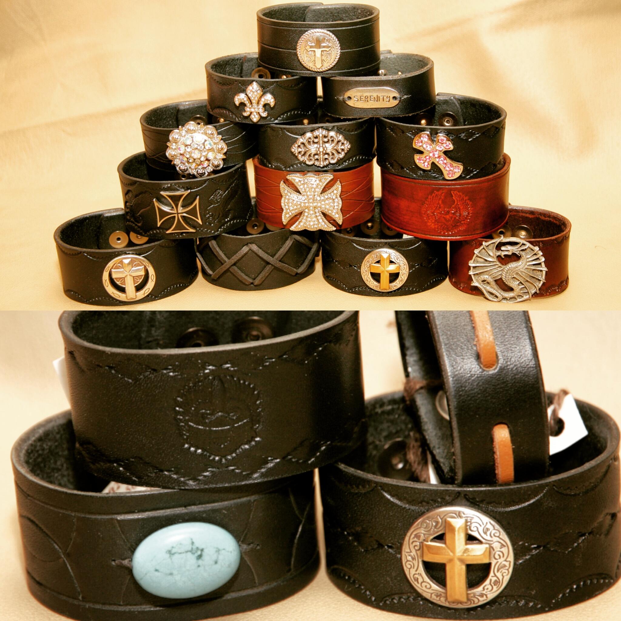 Custom Leather Cuff Bracelets