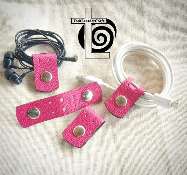 Pink Cord Cable Holder