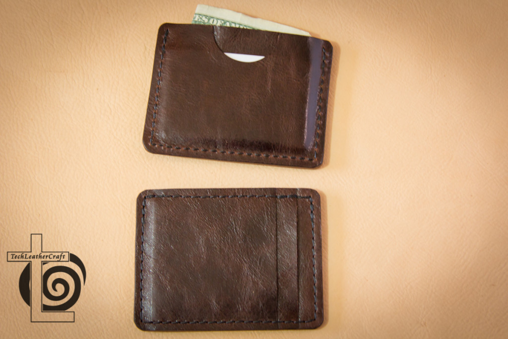 Two Slim Wallets Both Sides