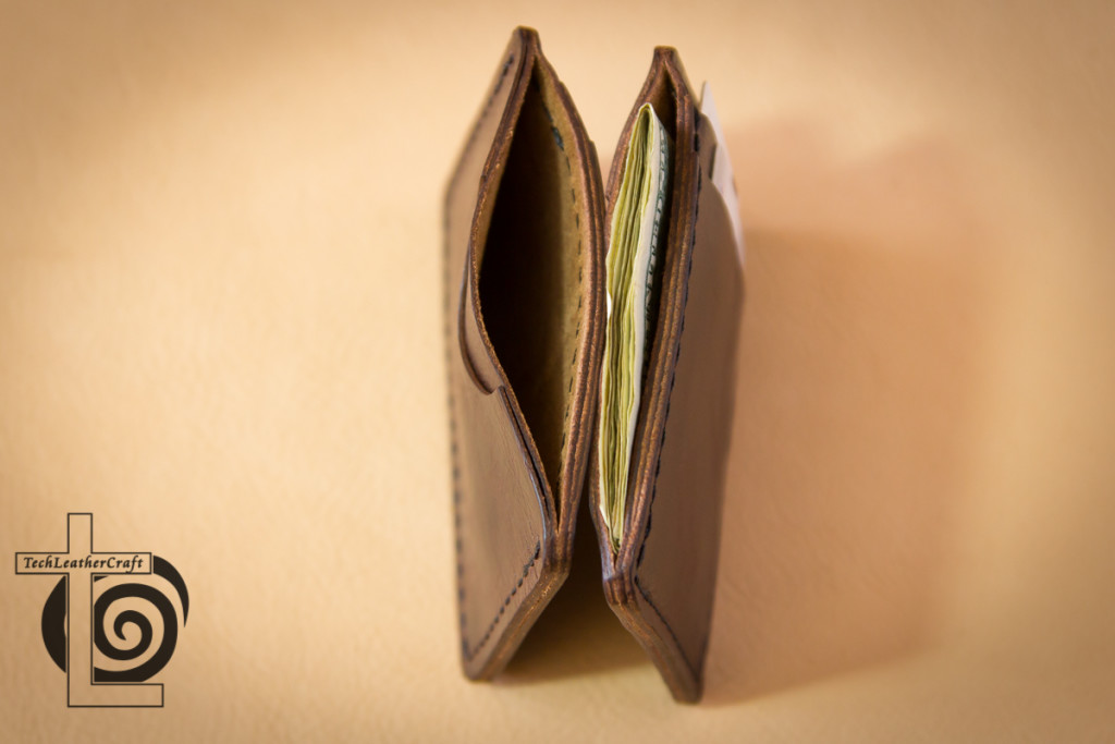 Two Slim Wallets Top View