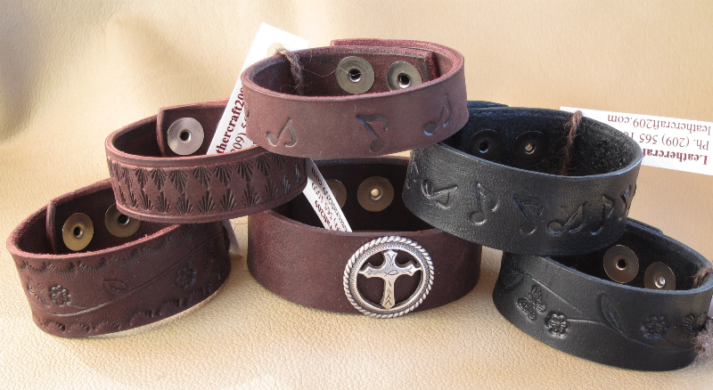Custom Leather Bracelets and Cuffs – TechLeatherCraft