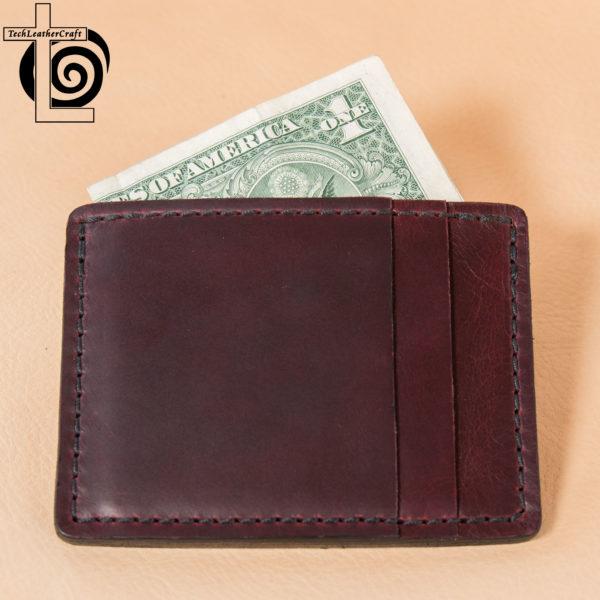 Burgundy Horween Chromexcel Slim Wallet