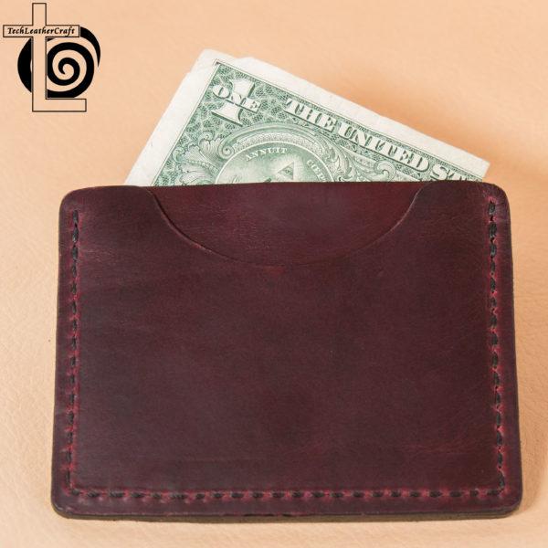Burgundy Horween Slim Wallet