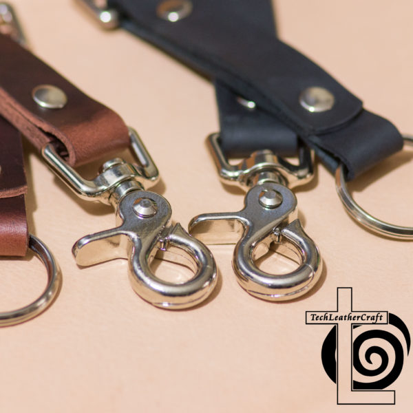 Leather Trigger Snap Keychain Duty