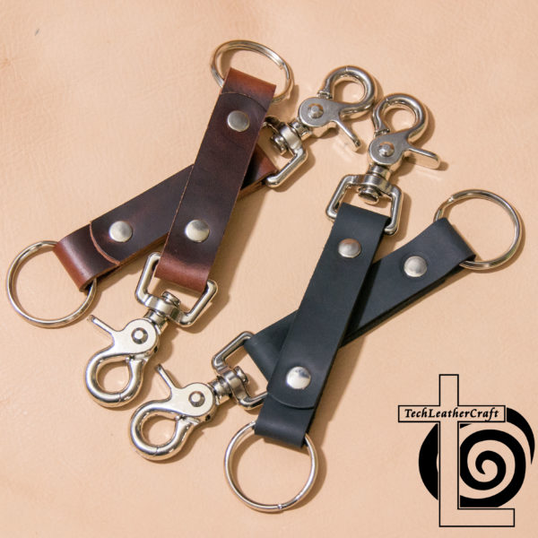 Leather Trigger Snap Keychain